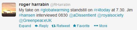 Harrabin tweet